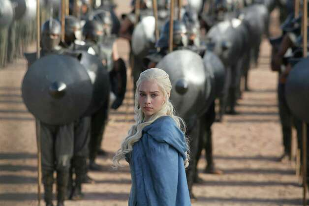 "Emilia Clarke as ""Daenerys Targaryen"" in season 3, episode 4. Photo: Keith Bernstein / Keith Bernstein"