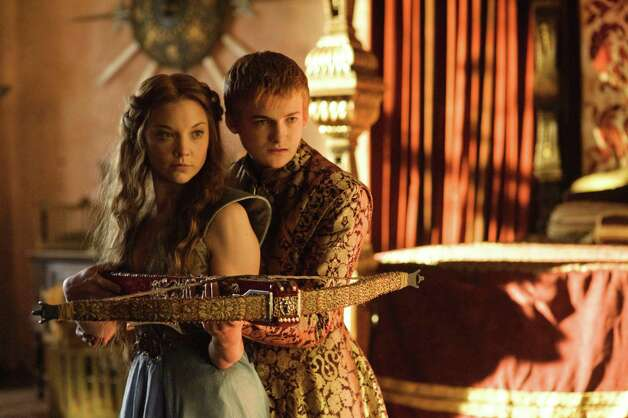 "Natalie Dormer as ""Margaery Tyrell"" and Jack Gleeson as ""Joffrey Baratheon"" in season 3, episode 2. Photo: Helen Sloan / Helen Sloan"