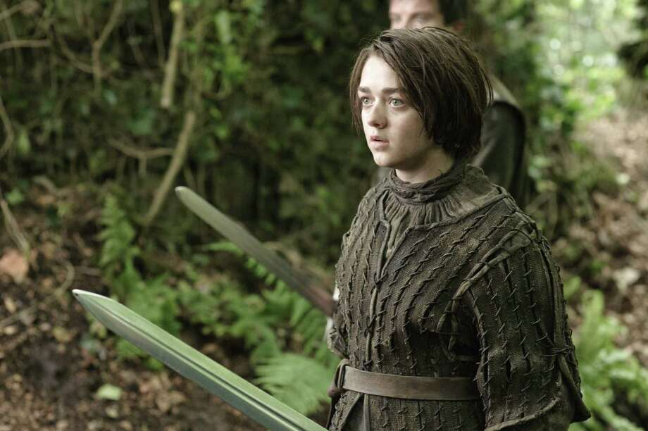 "Maisie Williams as ""Arya Stark"" in the second episode of season 3. Photo: Helen Sloan / Helen Sloan"