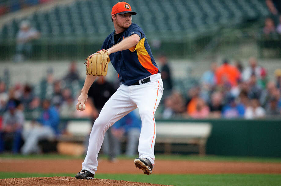 Astros pitcher Alex White delivers a pitch during the first inning. Photo: Evan Vucci, Associated Press / AP