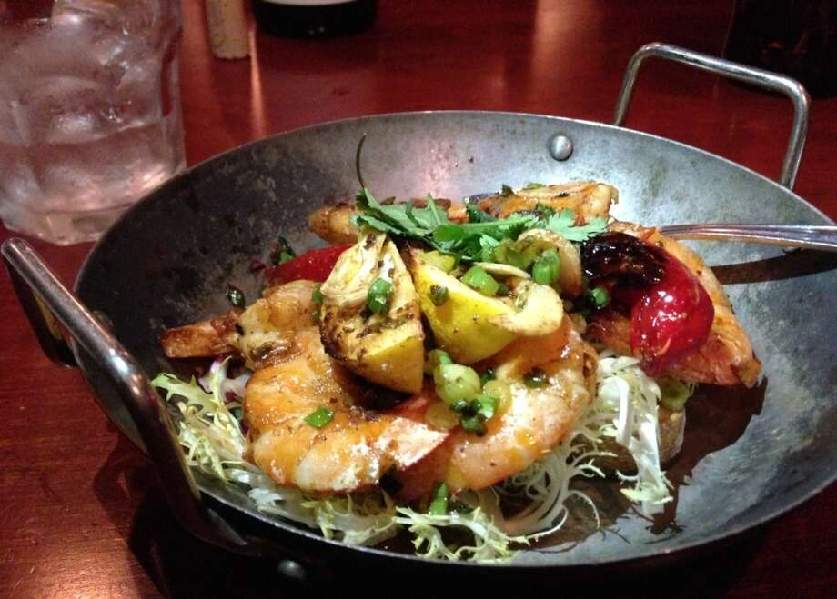 Skolllet roasted shrimp ($12.50) with Fresno chiles was one of my favorite dishes