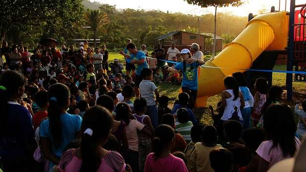 Instead of discarding an old playground, the city of Conroe and a local nonprofit worked together to dismantle it, ship it to a poor village in San Buenaventura, Bolivia, and reconstruct it for the town's children. Photo: Conroe Parks And Recreation Dpt.