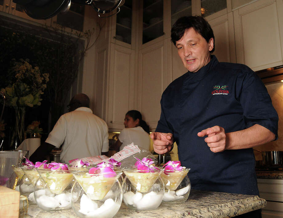 Ciesielski prepares the Tropical Ceviche. Photo: Dave Rossman, For The Houston Chronicle / © 2013 Dave Rossman