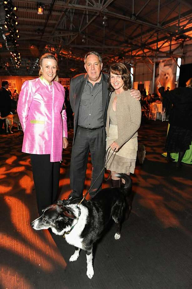 Donna Blakemore, John McCarthy and Cindy McCarthy at the San Francisco SPCA's Bark & Whine Ball 2013. Photo: Drew Altizer Photography