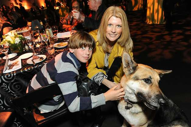 Baker Sharp and Diane Dwyer with Truman at the San Francisco SPCA's Bark & Whine Ball 2013. Photo: Drew Altizer Photography