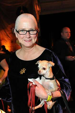 Quita Cruciger holds Napa at the San Francisco SPCA's Bark & Whine Ball 2013. Photo: Drew Altizer Photography