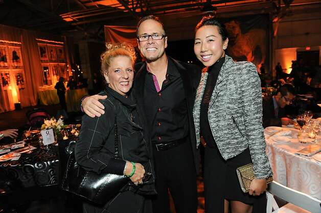 Judith Ranzer, Patrick Villyard and Jean Wang at the San Francisco SPCA's Bark & Whine Ball 2013. Photo: Drew Altizer Photography