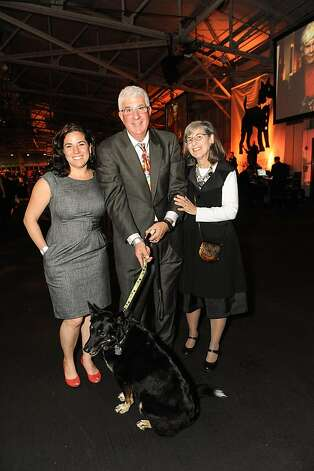 Kate, Dan and Bonnie Levitt with Annie at the San Francisco SPCA's Bark & Whine Ball 2013. Photo: Drew Altizer Photography
