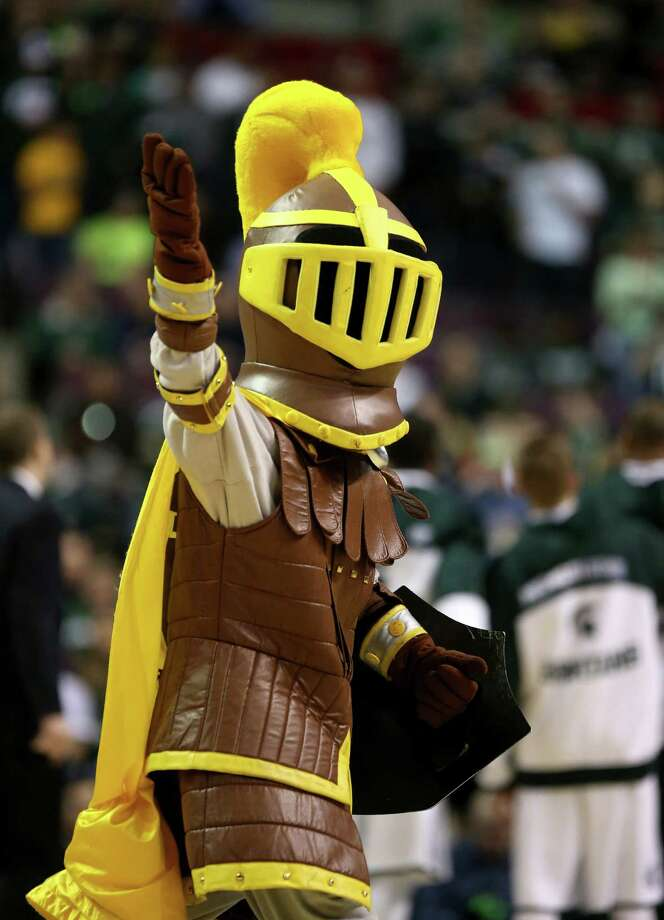 AUBURN HILLS, MI - MARCH 21:  The mascot for the Valparaiso Crusaders performs against the Michigan State Spartans during the second round of the 2013 NCAA Men's Basketball Tournament at at The Palace of Auburn Hills on March 21, 2013 in Auburn Hills, Michigan. Photo: Jonathan Daniel, Getty Images / 2013 Getty Images