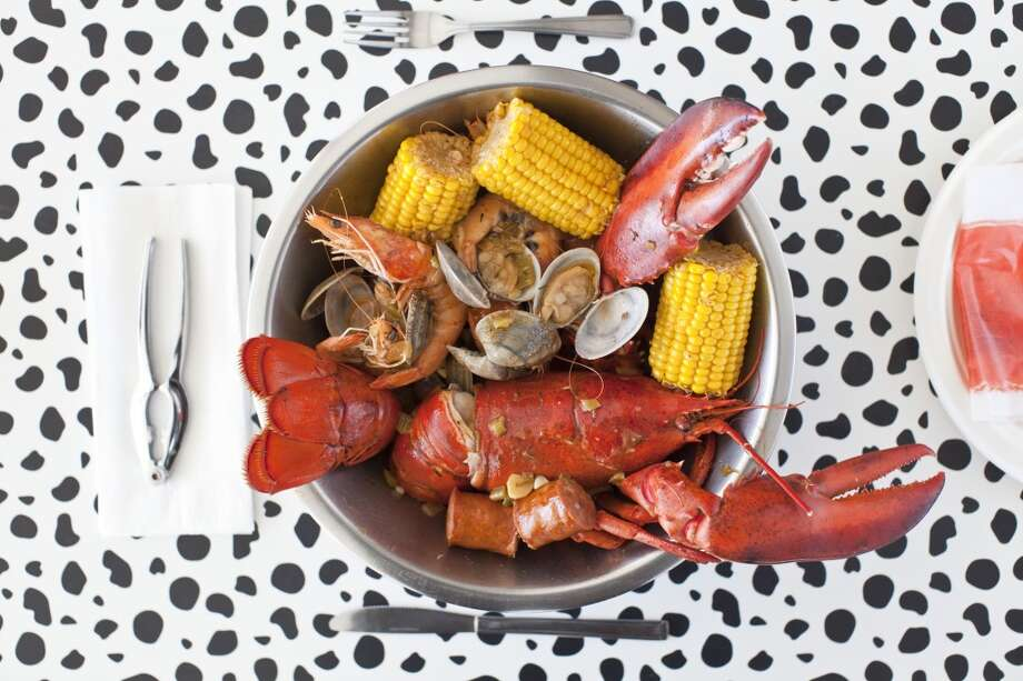 The seafood boil at Voodoo Kitchen.