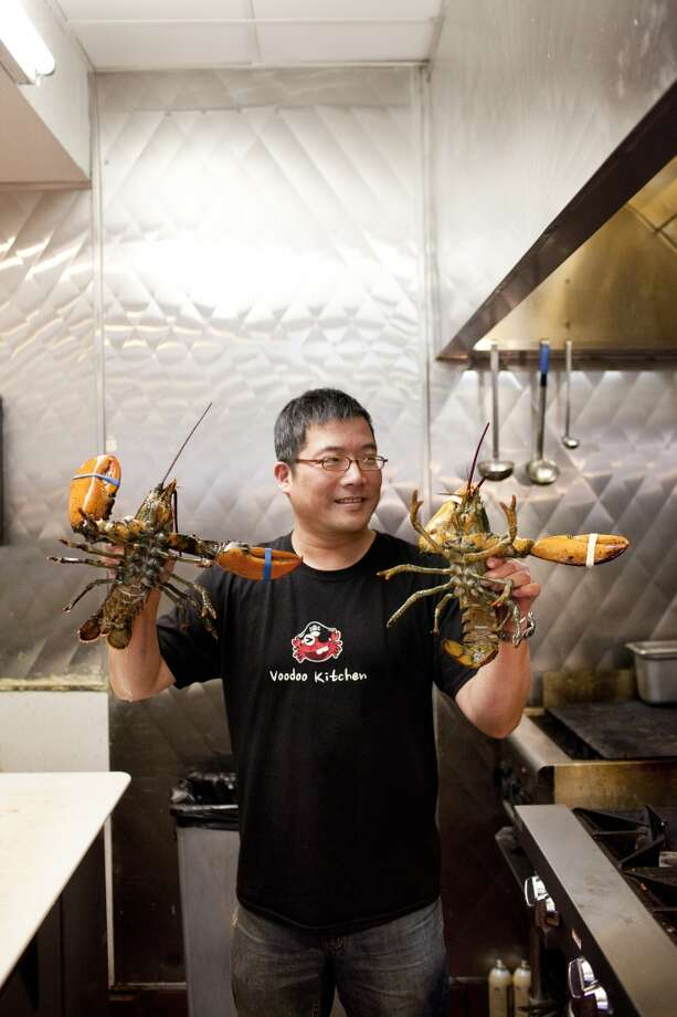 Co-owner David Lin at Voodoo Kitchen.
