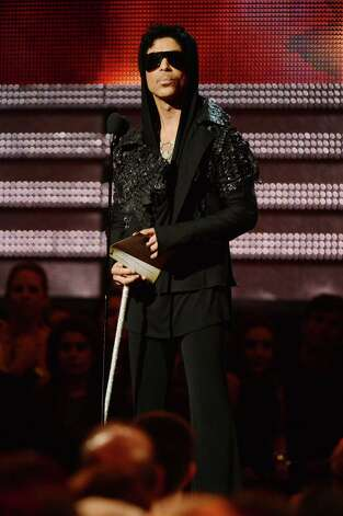 Prince speaks onstage at the 55th Annual GRAMMY Awards at Staples Center on February 10, 2013 in Los Angeles, California.  (Photo by Jeff Kravitz/FilmMagic) Photo: Jeff Kravitz, Getty Images / 2013 Jeff Kravitz