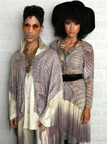 "Prince and Andy Allo backstage at North Sea Jazz Festival three minutes prior to final concert in Rotterdam on his ""Welcome 2 Europe"" tour on July 10, 2011 in Rotterdam, Netherlands.  (Photo by Brian Ach/WireImage for NPG Records 2011) Photo: Brian Ach, Getty Images / 2011 Brian Ach"