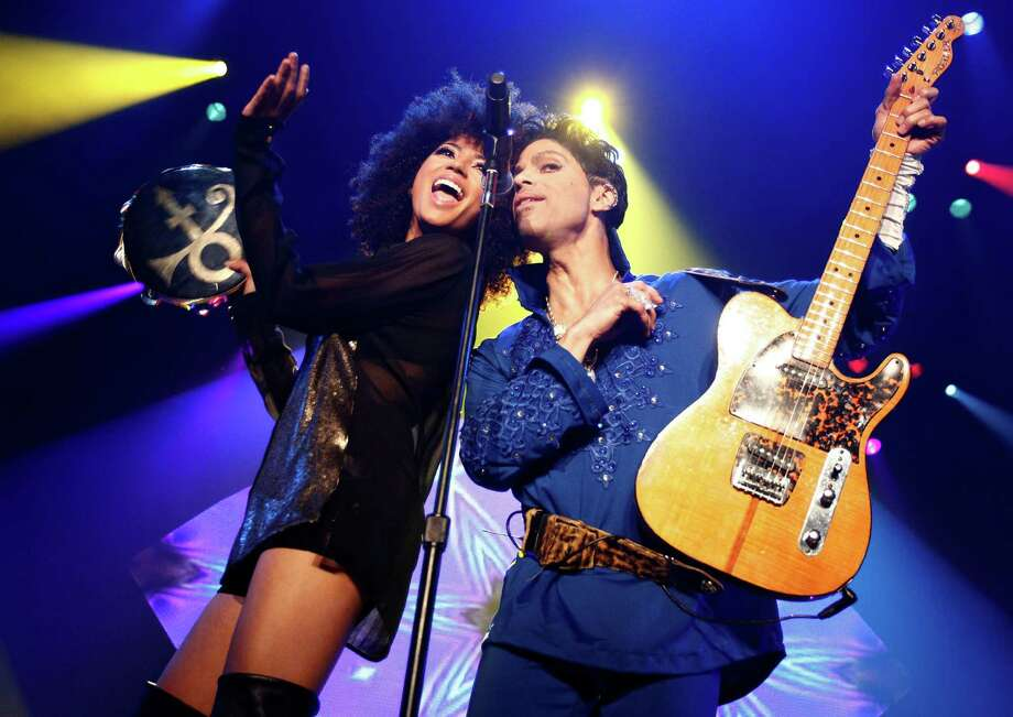 "Andy Allo and Prince perform during his ""Welcome 2 Europe"" tour at Ahoy on July 10, 2011 in Rotterdam, Netherlands.  (Photo by Brian Ach/WireImage for NPG Records 2011) Photo: Brian Ach, Getty Images / 2011 Brian Ach"