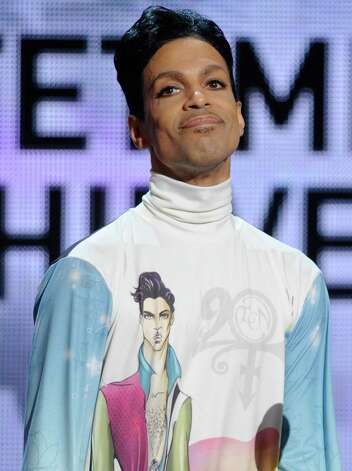 Prince onstage during the 2010 BET Awards held at the Shrine Auditorium on June 27, 2010 in Los Angeles, California. Photo: Michael Caulfield, Getty Images / 2010 WireImage