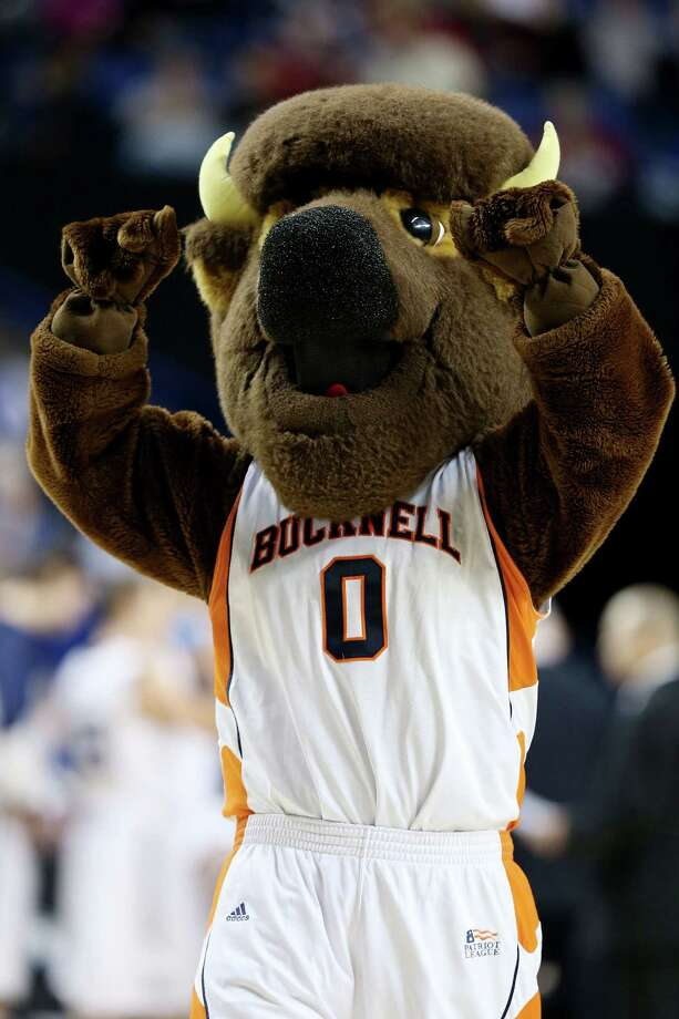 LEXINGTON, KY - MARCH 21:  Bucky the Bison, mascot for the Bucknell Bison, performs against the Butler Bulldogs in the first half during the second round of the 2013 NCAA Men's Basketball Tournament at the Rupp Arena on March 21, 2013 in Lexington, Kentucky. Photo: Andy Lyons, Getty Images / 2013 Getty Images