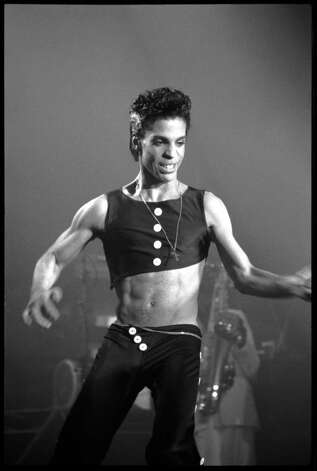 Prince performing at Wembley Arena in August 14, 1986 in London, England. (Photo by David Corio/Michael Ochs Archives) Photo: David Corio, Getty Images / Michael Ochs Archives