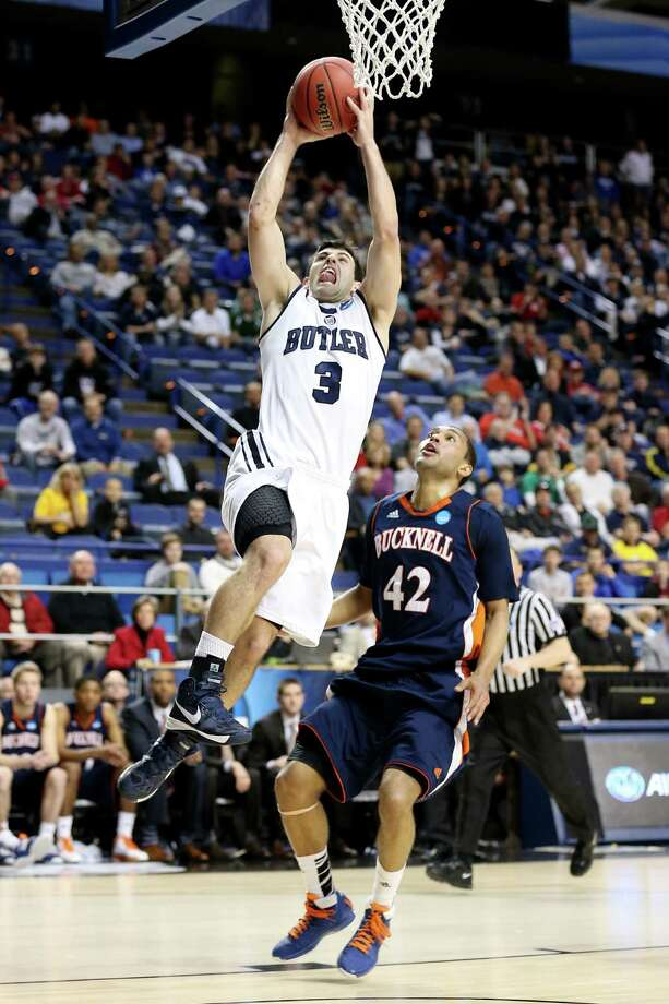 Butler 68, Bucknell 56Alex Barlow goes up for a layup during the Bulldogs win at Rupp Arena in Lexington, Kentucky. Photo: Andy Lyons, Getty Images / 2013 Getty Images