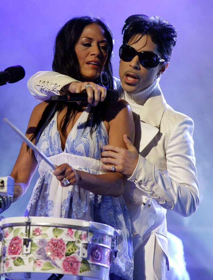 Musician Sheila E and Prince perform onstage during the 2007 NCLR ALMA Awards held at the Pasadena Civic Auditorium on June 1, 2007 in Pasadena, California. Photo: Kevin Winter, Getty Images / 2007 Getty Images