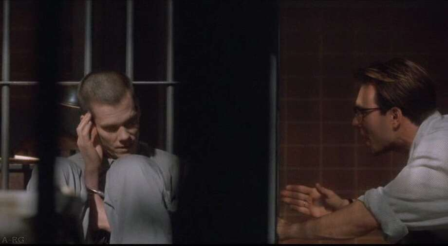 MURDER IN THE FIRST (1995) - A fictionalized take on a real-life case, this drama casts Kevin Bacon as a prisoner sentenced to solitary confinement in Alcatraz's 'hole' - in reality, the prison's dungeon - for three years because of an escape attempt, where he loses his sanity. After being released back into the general population, he kills the fellow con responsible for the jailbreak's failure and his ensuing murder trail becomes an indictment of Alcatraz's deplorable conditions.