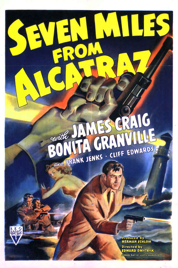 SEVEN MILES FROM ALCATRAZ (1942) - Another escape, but this one features convicts who do so because they are afraid of Japanese bombers in the wake of Pearl Harbor. They make it to a lighthouse where they overpower the place's five inhabitants. And wouldn't you know it, the Nazis are also eyeing the island for their spy ring, pitting the convicts' greed against their patriotism.