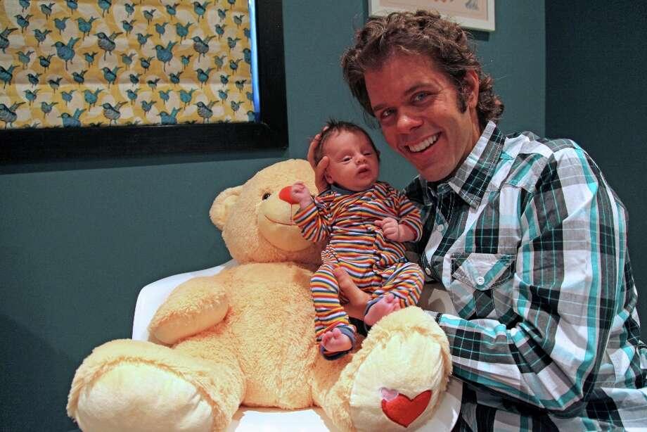 Perez Hilton on Thursday released these photos of his new baby, Mario Armando Lavandeira III. (Courtesy perezhilton.com)