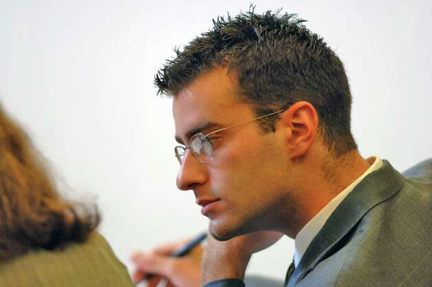 Defendant Christopher Porco is seen during his trial in the Orange County Courthouse in Goshen, N.Y.  on Thursday, July 20, 2006. Christopher Porco was found guilty of killing his father Peter, an Albany County law clerk, and attacking his mother Joan, in their Delmar, N.Y. home on Nov. 14,  2004. (Philip Kamrass/Times Union) Photo: PHILIP KAMRASS / ALBANY TIMES UNION