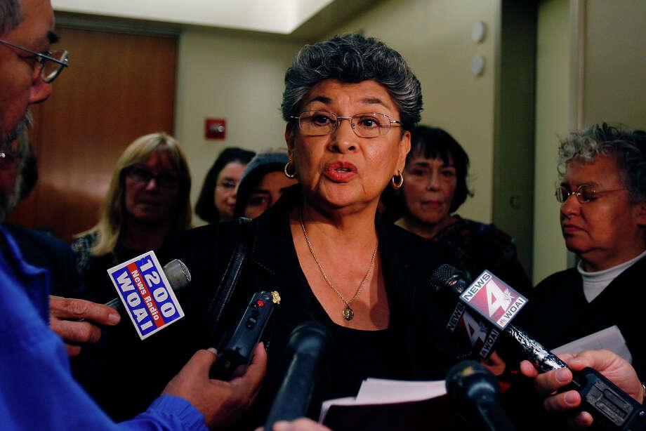 "Maria Berriozabal, ""Maria, Daughter of Immigrants"" Photo: Shaminder Dulai, Express-News File Photo / sdulai@express-news.net"