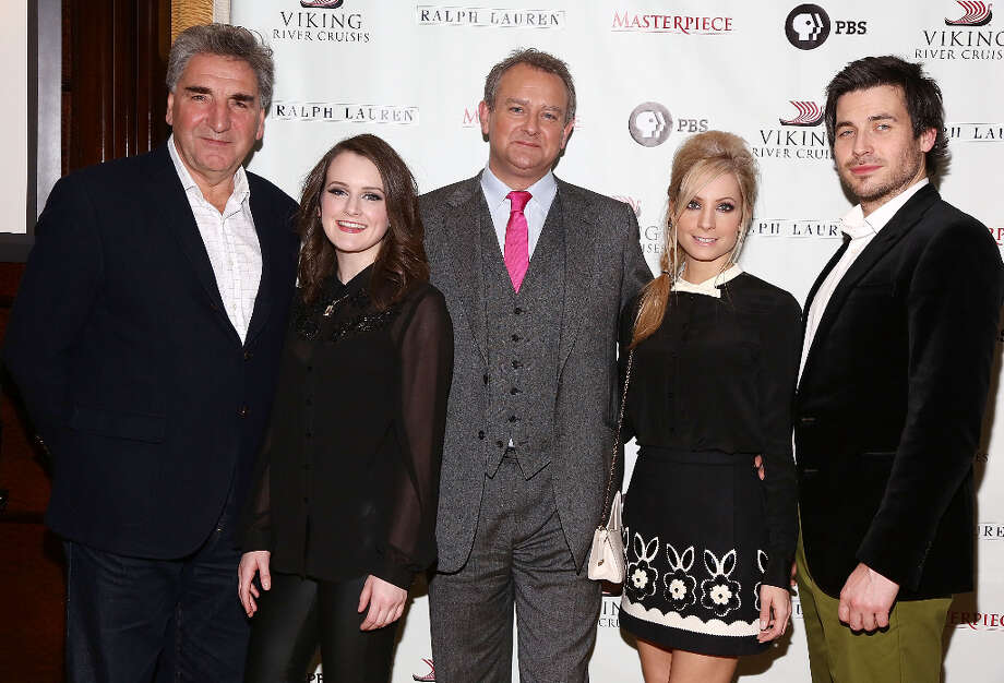 (L-R) Jim Carter, Sophie McShera, Hugh Bonneville,  Joanne Froggatt and Rob James-Collier attend Downton Abbey Season 3 Photo Call at Essex House on December 12, 2012 in New York City. Photo: Astrid Stawiarz, Getty Images / 2012 Astrid Stawiarz