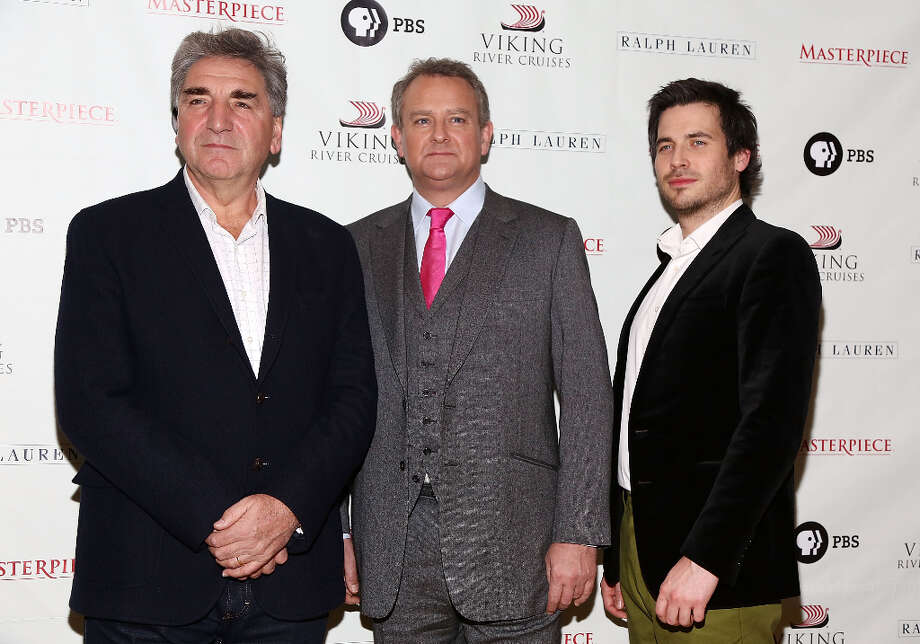 (L-R) Jim Carter, Hugh Bonneville and Rob James-Collier attend Downton Abbey Season 3 Photo Call at Essex House on December 12, 2012 in New York City. Photo: Astrid Stawiarz, Getty Images / 2012 Astrid Stawiarz
