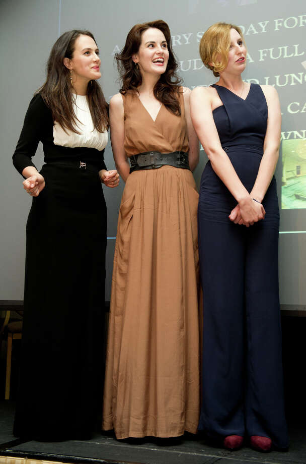 (L-R) Jessica Brown Findlay, Michelle Dockery, Laura Carmichael attend 'An Evening With Downton Abbey - Raising Money For Merlin - The Medical Relief Charity' at The Savoy Hotel on July 14, 2011 in London, United Kingdom. Photo: Ian Gavan, Getty Images / 2011 Getty Images
