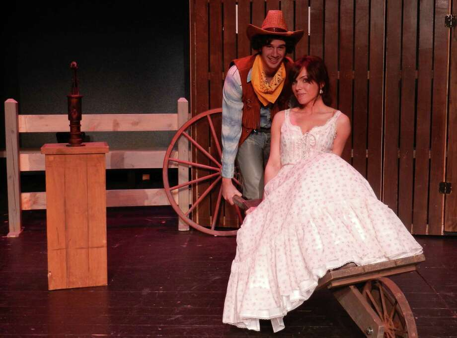 "Home on the range: Jeffrey Wright, III and Rebecca Stempel star in ""Oklahoma"" playing at Curtain Call's Kweskin Theatre in Stamford from March 29 through April 27. Photo: Contributed Photo"
