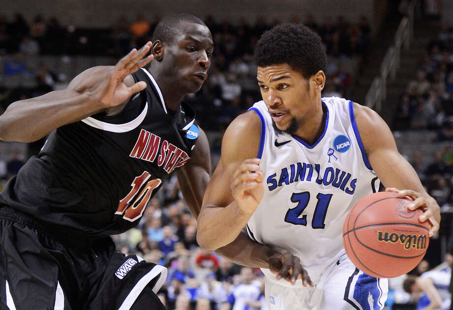 Saint Louis 64, New Mexico State 44Dwayne Evans drives to the basket during the Billikens' win at HP Pavilion in San Jose, Calif. Photo: Thearon W. Henderson, Getty Images / 2013 Getty Images