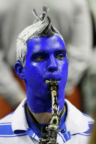 A Saint Louis Billikens band member performs in the first half against the New Mexico State Aggies. Photo: Ezra Shaw, Getty Images / 2013 Getty Images