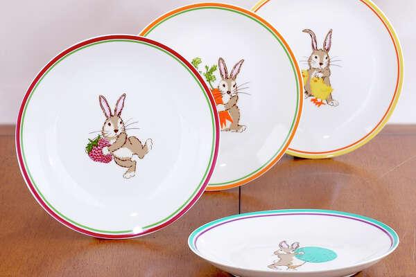 Bunny plates. $20, set of four, World Market.