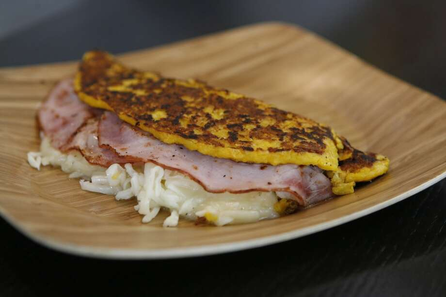 Cheese and Ham Cachapas