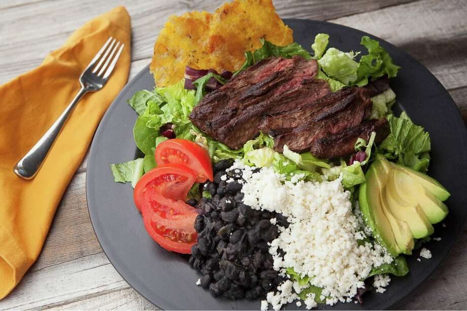 Grilled Steak & Tostones