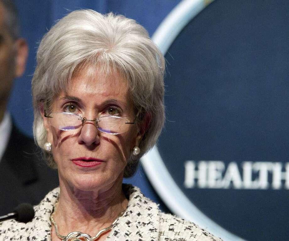 Kathleen Sebelius is U.S. secretary of Health and Human Services. Photo: File Photo, Associated Press