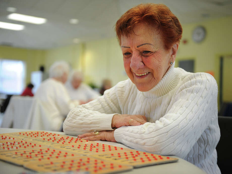 Renee Testani of Orange plays bingo at the Orange Senior Center on Thursday, March 21, 2013. Orange has the largest percentage senior citizen population in the region. Photo: Brian A. Pounds / Connecticut Post