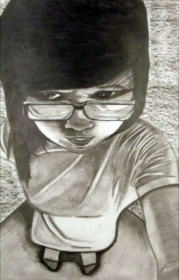 Artwork by Angela Tang (South Colonie, grade 12) selected for the 14th annual High School Regional Juried Art Exhibition.