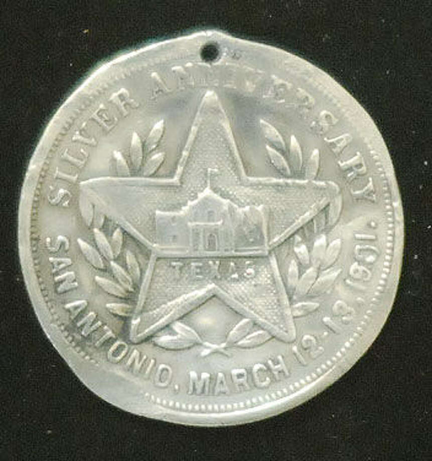 This medal probably was given out at  the 25th anniversary meeting of the Texas Cattle Raisers' Association. Photo: Courtesy Gerald Hewitt