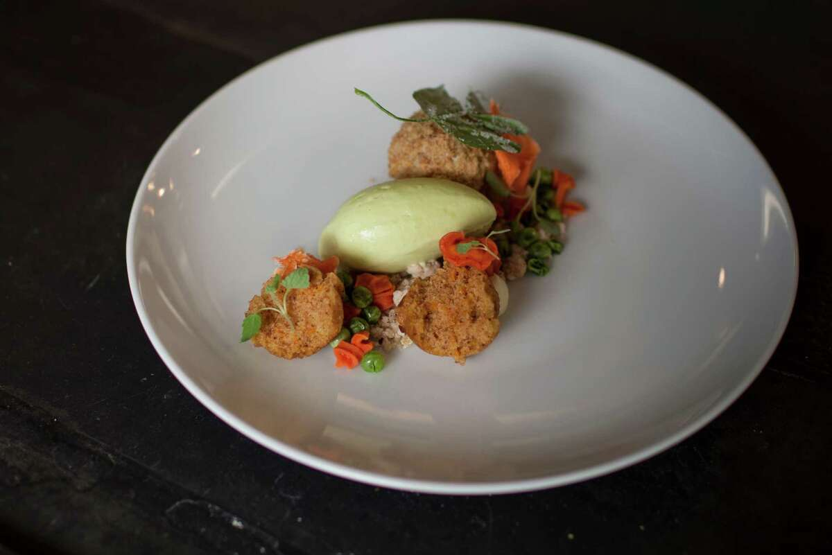 The Crimson Sparrow restaurant's carrot cake dessert. Photographed Saturday, March 16, in Hudson, N.Y. (Dan Little/ Special to the Times Union)