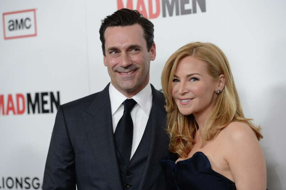 Actors Jon Hamm and Jennifer Westfeldt arrive at the Premiere of AMC's 'Mad Men' Season 6 at DGA Theater on March 20, 2013 in Los Angeles, California. Photo: Jason Merritt, Getty Images / 2013 Getty Images