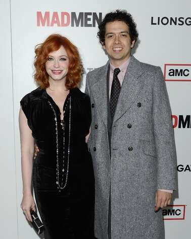 Christina Hendricks and Geoffrey Arend arrive at the Premiere of AMC's 'Mad Men' Season 6 at DGA Theater on March 20, 2013 in Los Angeles, California. Photo: Jason Merritt, Getty Images / 2013 Getty Images