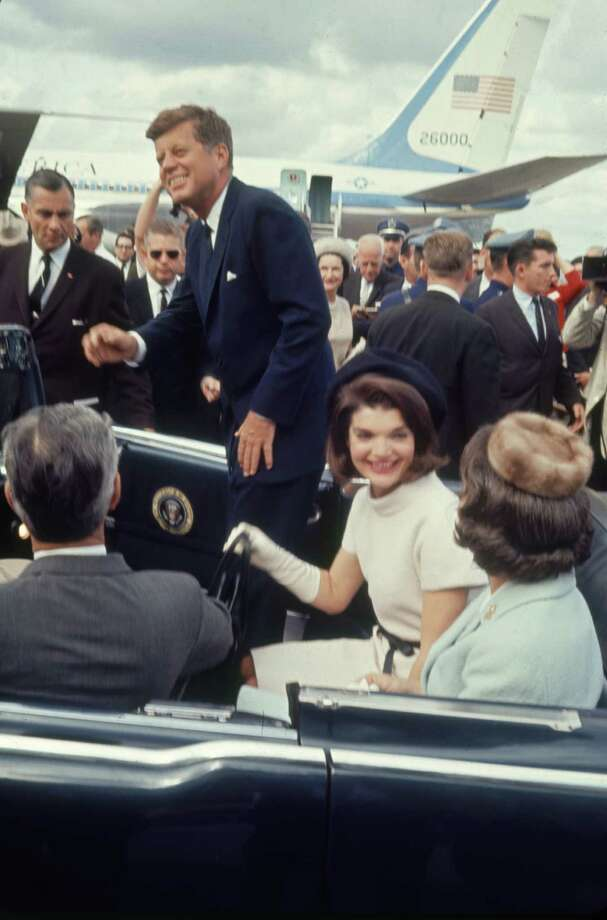 But Secret Service specifications didn't include keeping the top closed. Here, President Kennedy and first lady Jacqueline Kennedy leave San Antonio Airport with Texas Gov. John Connally Jr. and his wife, Nellie, on Nov. 21, 1963. The next day, Kennedy was assassinated and Connally seriously wounded in Dallas. Photo: Art Rickerby / Time & Life Pictures