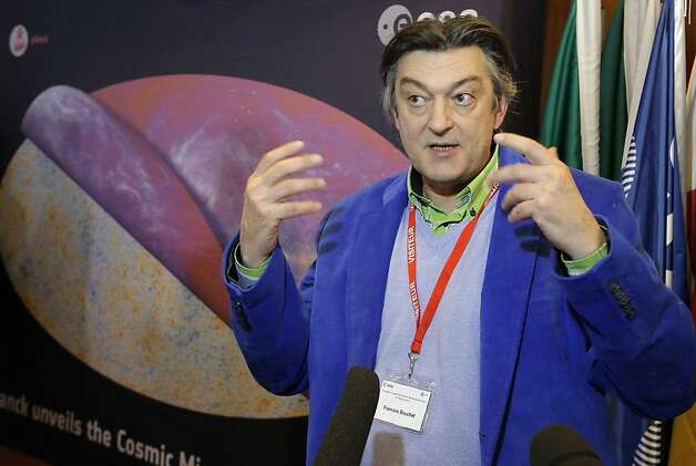 Francois Bouchet, a French astrophysicist at the European Space Agency's headquarters in Paris, discusses the findings. Photo: Francois Mori, Associated Press