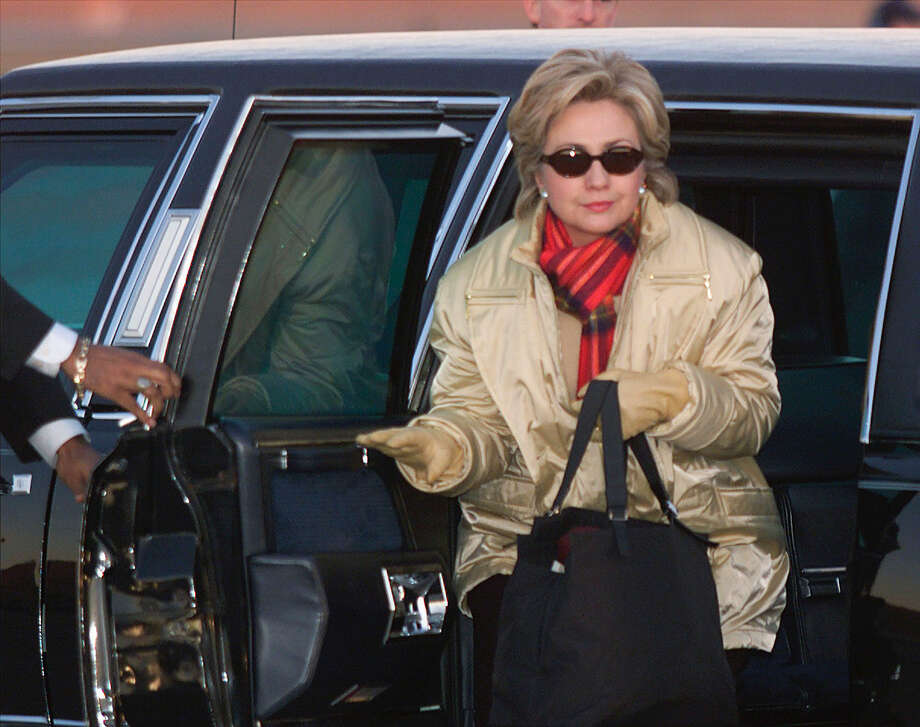 First lady Hillary Clinton steps out of the president's limousine to board Air Force One on Jan. 5, 2001 for the flight to the Clintons' new house in Chappaqua, N.Y. Clinton is considered the front runner for the Democratic nomination in 2016, if she decides to run. Photo: Mark Wilson/Liaison Agency/Getty Images, Getty Images