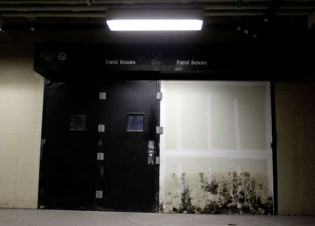 View of doorway to field level boxes inside the Astrodome during a media tour of the Reliant Astrodome Thursday, March 21, 2013, in Houston. Photo: Melissa Phillip, Houston Chronicle / © 2013  Houston Chronicle