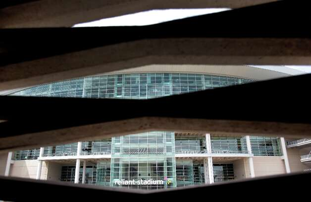 View from the Astrodome to Reliant Stadium shown during a media tour of the Reliant Astrodome Thursday, March 21, 2013, in Houston. Photo: Melissa Phillip, Houston Chronicle / © 2013  Houston Chronicle