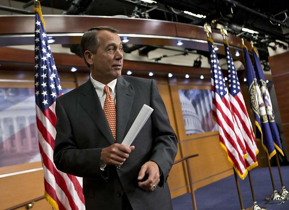 House Speaker John Boehner, R-Ohio, had promised restive conservatives that the budget would be balanced in 10 years, hoping to win their votes on other matters. Photo: J. Scott Applewhite, Associated Press